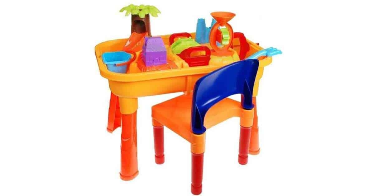 Műanyag homokozó asztal székkel